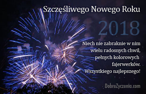Szczęścia i wszelkiej pomyślności w nadchodzącym Nowym Roku