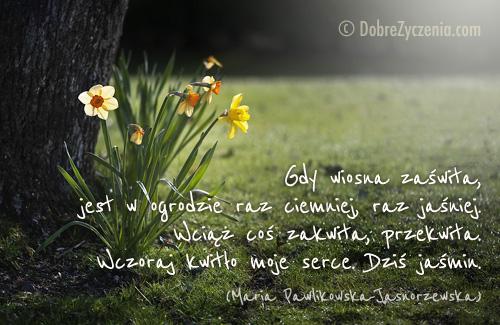 Znalezione obrazy dla zapytania wiosenna poezja