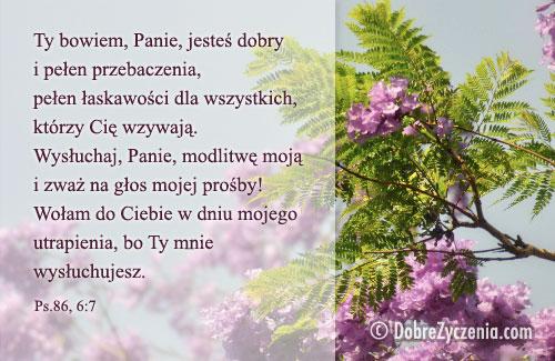 Dobre Kartki Dobre życzenia Ekartka Psalm 86 Ty Bowiem